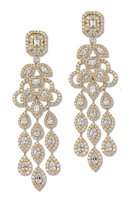 Entice yellow gold chandelier earrings