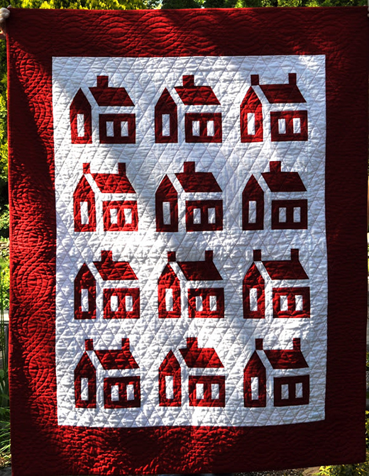 School House Quilt made by Barb Vedder of Fun With Barb, The Pattern By Liuxin of Thimblelady
