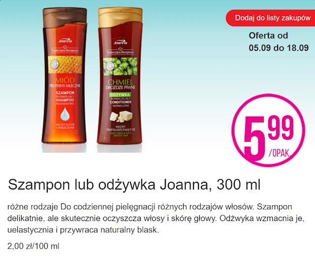 Szampon i odżywka Joanna - Biedronka, promocja