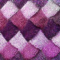 Written instructions for hand knitting a basic entrelac sample. Great tutorial to learn how to knit entrelac.