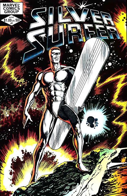 Silver Surfer v2 #1, 1982 marvel comic book cover by John Byrne