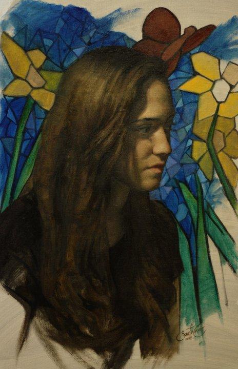 Cesar Santos 1982   Cuban-born American Figurative painter