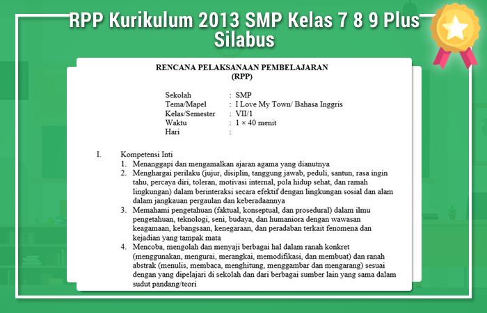 RPP Kurikulum 2013 SMP Kelas 7 8 9 Plus Silabus