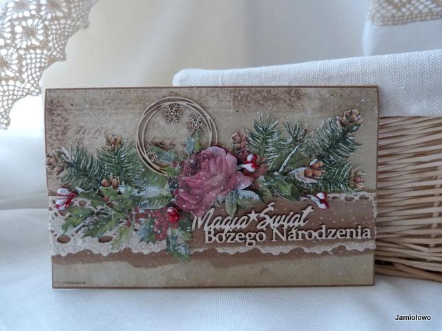 kartka świąteczna z papierów do scrapbookingu Craft&You