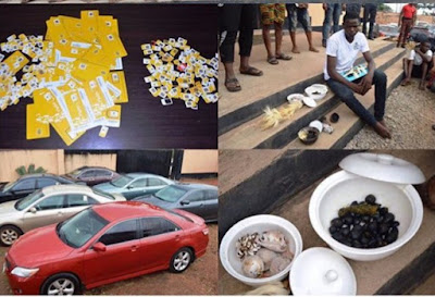 EFCC Arrests OOU Yahoo Students, Recovers Charms And Others