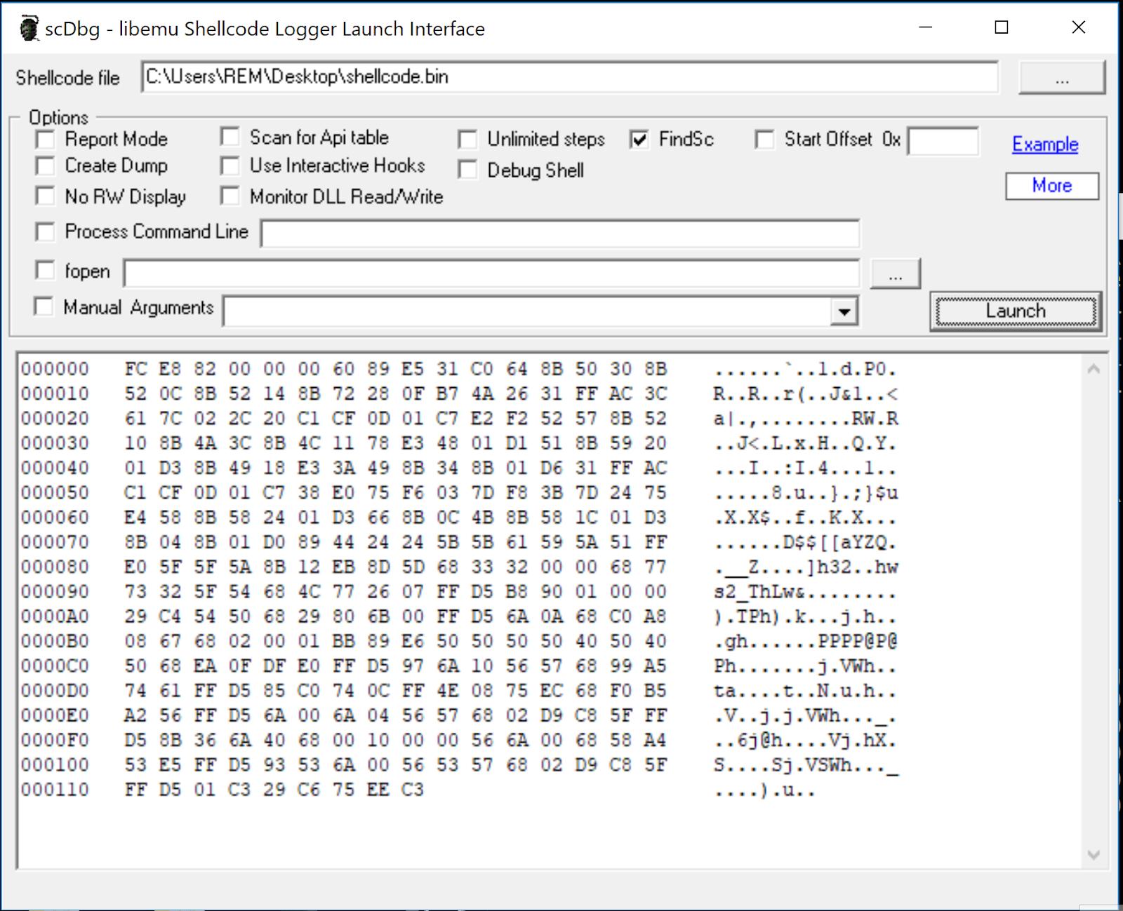 Analyzing Windows shellcode - triage, disassemble, debug