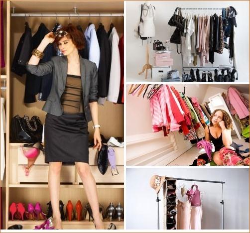 armarios, organización, vestuario, doblar ropa