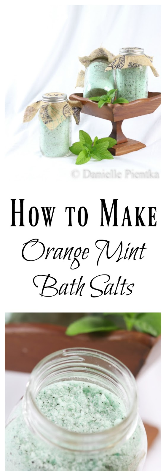 DIY Orange Mint Bath Salts: These make great Christmas gifts that kids can help with.