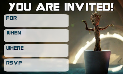 free baby groot birthday printables