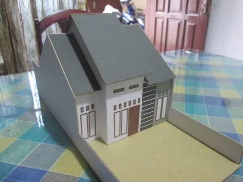 Cara Mudah Membuat Miniatur Rumah Minimalis Dari Kardus ...