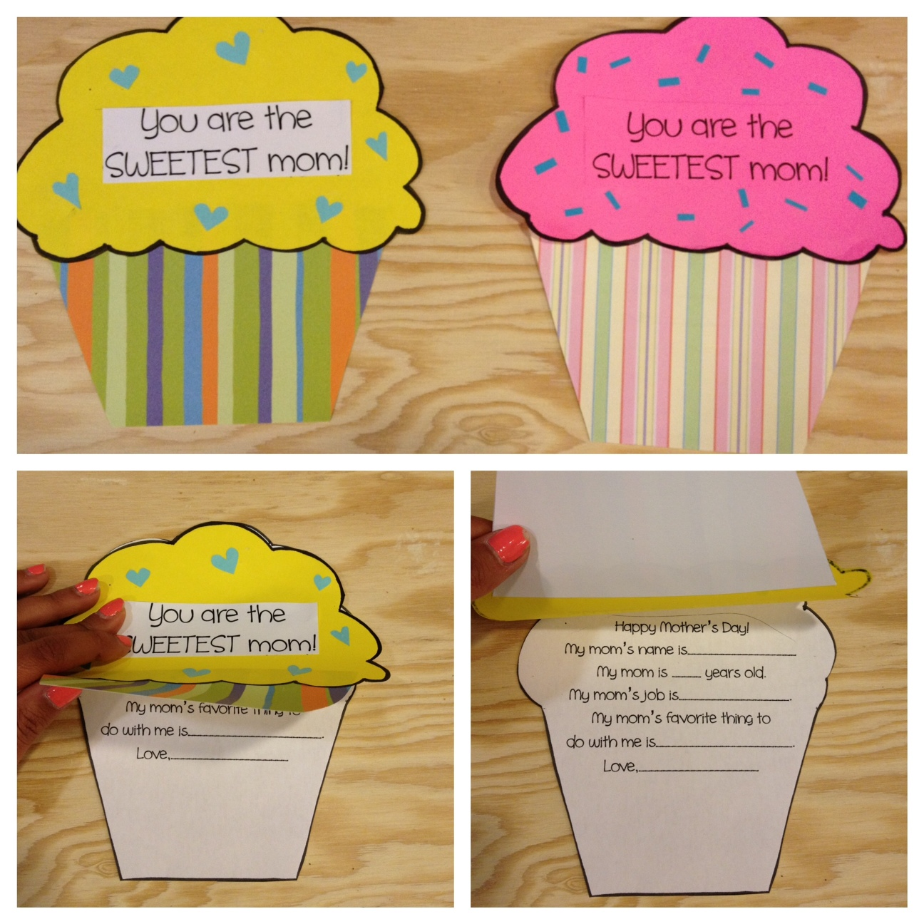 Cupcake Mother S Day Craft