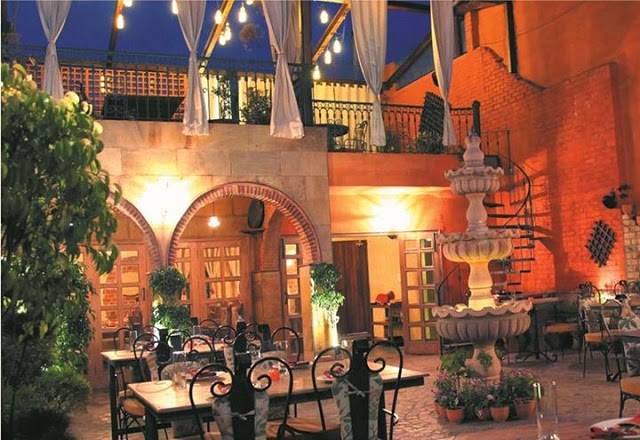 Amalfi Restaurant – The Cobbled Stone Terrace with Serene Ambience