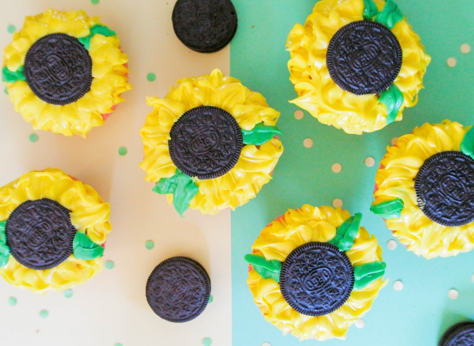 SUNFLOWER CUPCAKES!