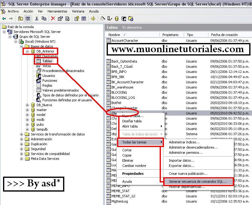 Generar secuencia desde SQL server 2000