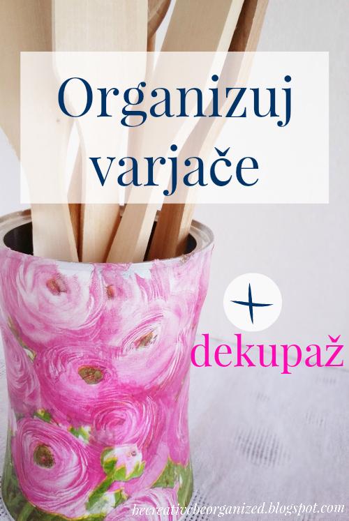 How to organize spatulas - decoupage spatula organizer