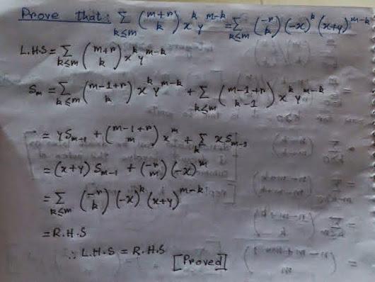 Concrete Mathematics Exercise ...