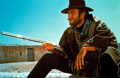 Clint Eastwood as 'Man with No Name' in For a Few Dollars More aka Per qualche dollaro in più, Directed by Sergio Leone