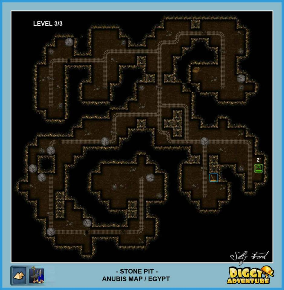 Diggy's Adventure Walkthrough: Anubis Egypt Quests / Stone Pit