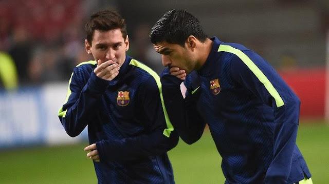 Messi dan Luis Suarez