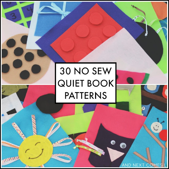 The 3 Day No Sew Quiet Book packs from And Next Comes L