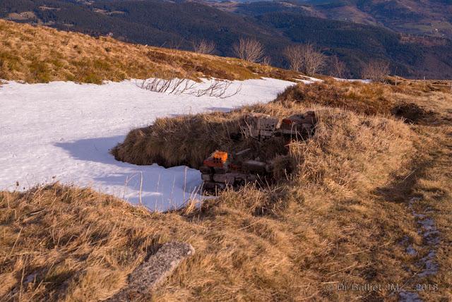 Redoute du Hohneck — Schanzgraben, vestiges de premier conflit mondial