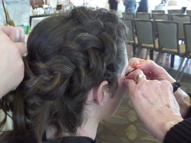 braided bridal up style