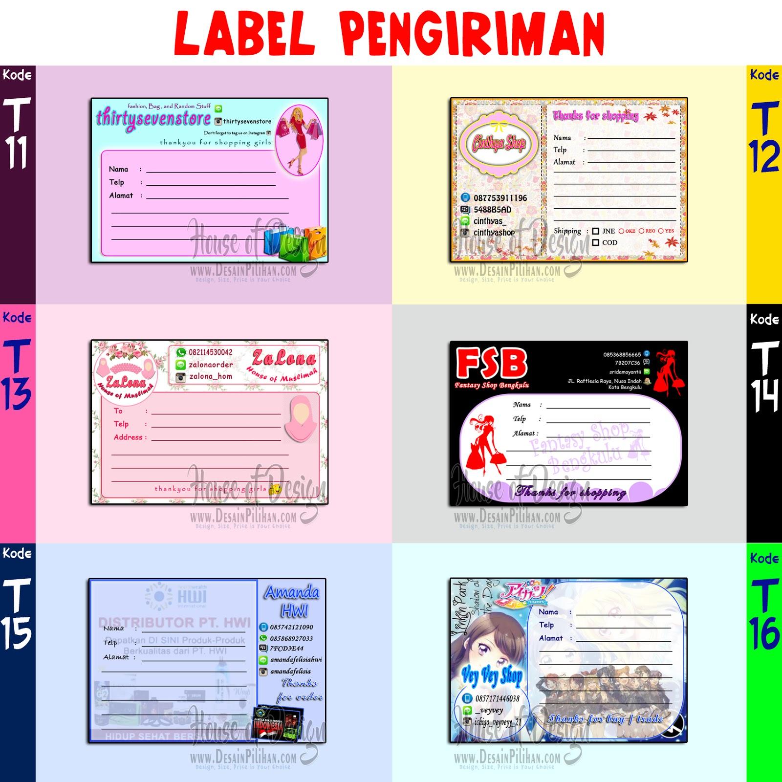 jual stiker pengiriman murah, katalog sticker shipping, design sticker shipping