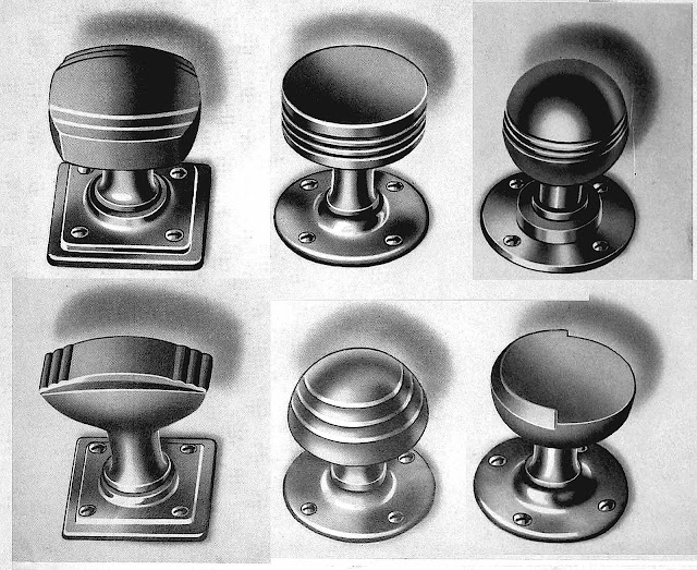 1930s domestic doorknobs, large illustration