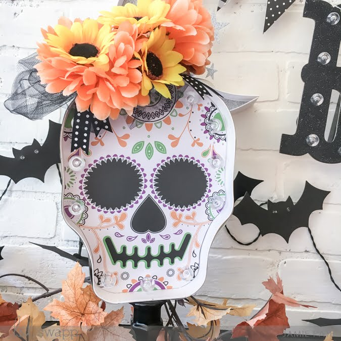 Marquee Love Sugar Skull Kit now at Michaels Stores by Jamie Pate | @jamiepate for @heidiswapp