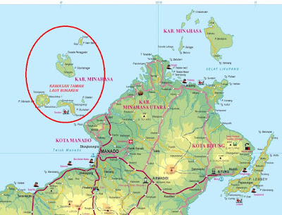 Peta Taman Nasional Bunaken