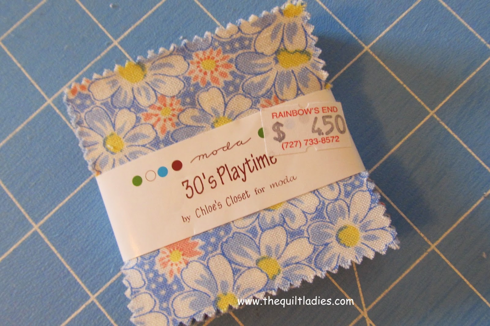 use a charm pack to make a baby quilt