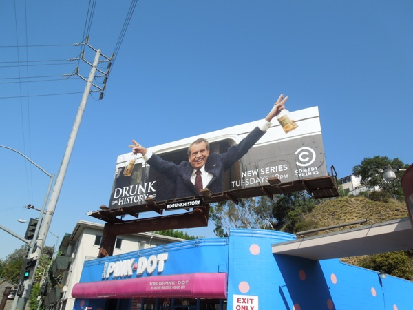 Drunk History Richard Nixon billboard parody