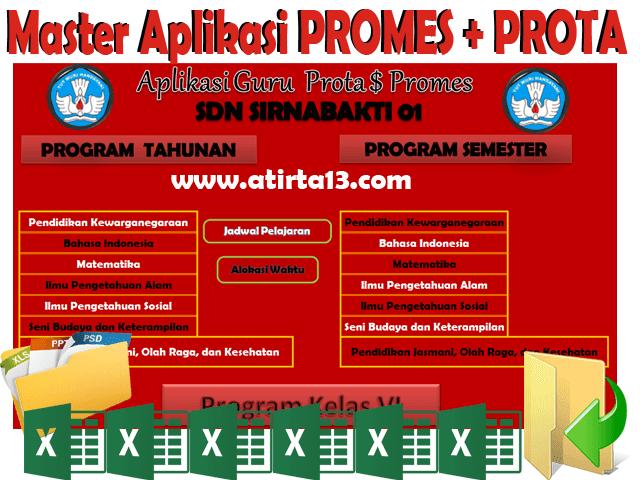 Download Aplikasi Otomatis Pembuat Promes dan Prota Siap Cetak  Format Excel