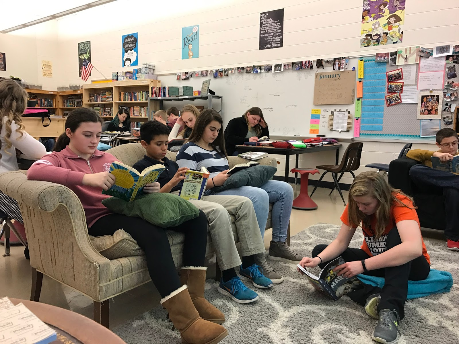 Read, Write, Reflect: Flexible Seating in the Middle School Classroom