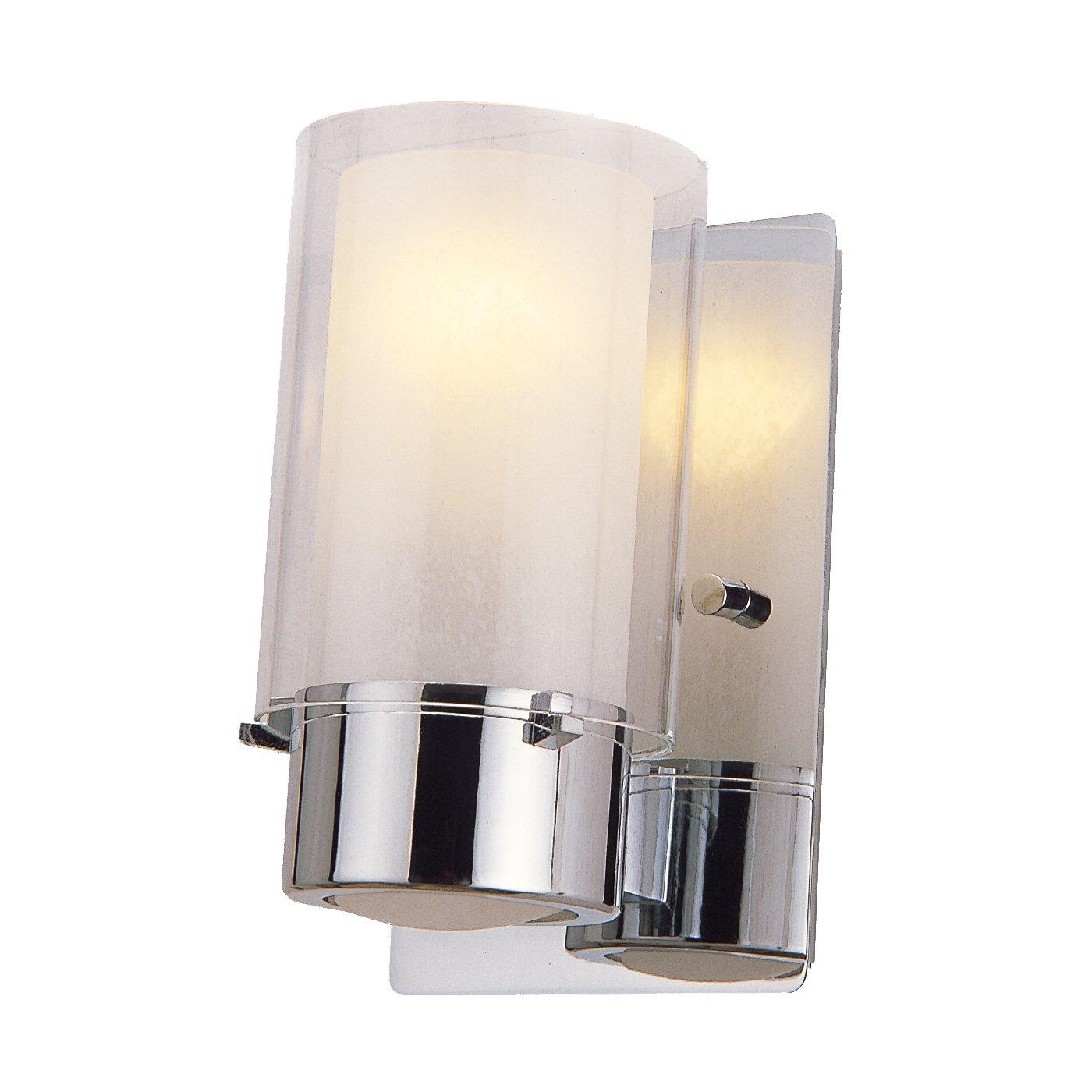 Sconce Bathroom Democraciaejustica - Chrome bathroom sconce lights