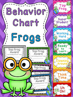 Frogs behavior chart for frog theme classroom a bunch of other fun behavior clip charts!