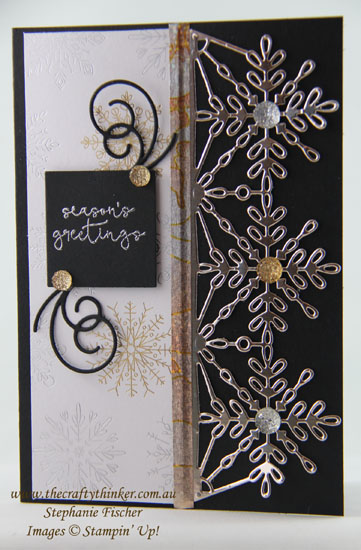 Swirly Snowflakes Thinlits, #thecraftythinker, Year of Cheer Suite, 2017 Holiday Catalogue, Sneak Peek, Xmas card, Stampin' Up Australia Demonstrator, Sydney NSW