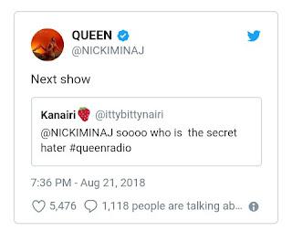 "Nicki Minaj Promises To Reveal ""Secret Hater"" On Next Queen Radio Episode"