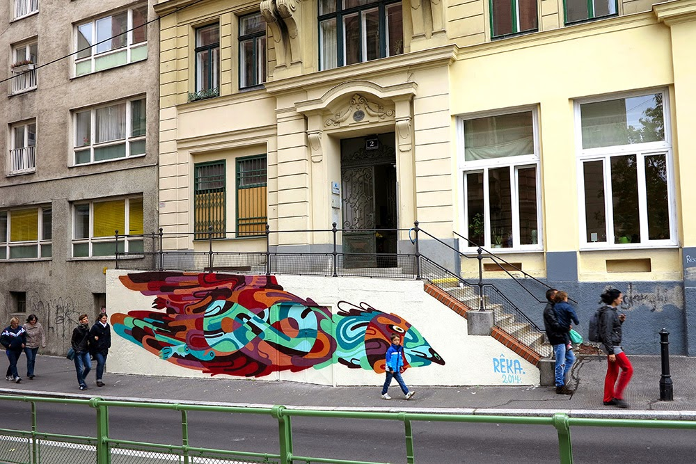 Our friend James REKA just made a quick stop through Austria where he was able to paint a quick piece somewhere on the streets of Vienna.