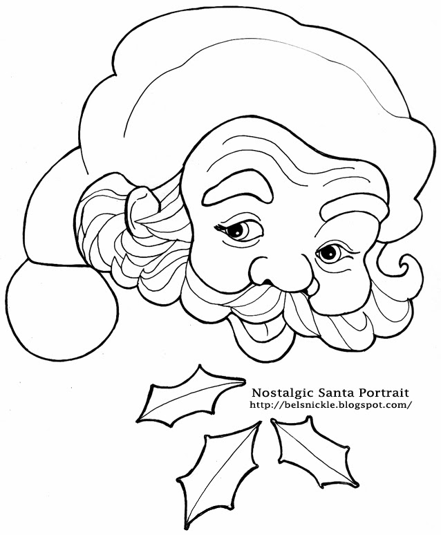 countdown to christmas coloring pages | Color a Nostalgic Portrait of Santa Claus for a Christmas ...