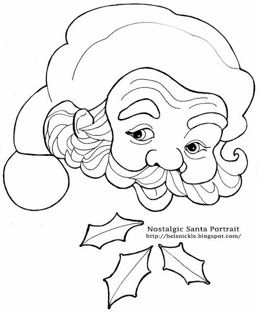 Color a Nostalgic Portrait of Santa Claus for a Christmas