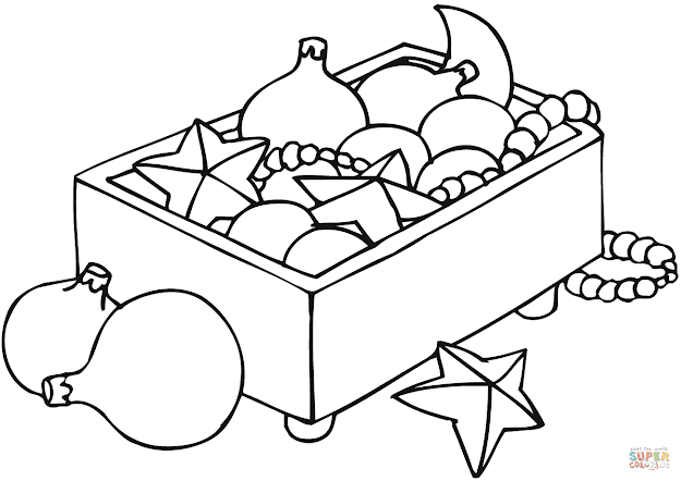 Click The Christmas Ornaments In Box Coloring Pages To View Printable  Version Or Color It Online Patible With Ipad And Android Tablets