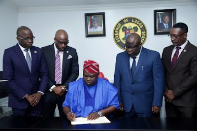 Lagos Governor Ambode Signs N1.046tr 2018 Budget