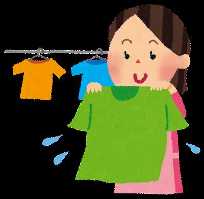 洗濯のイラスト「お母さん・洋服」