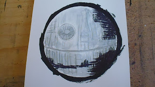 how to draw a death star