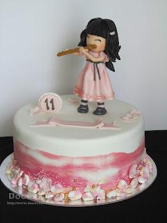 Uma Gorjuss flautista para o 11º aniversário da Francisca