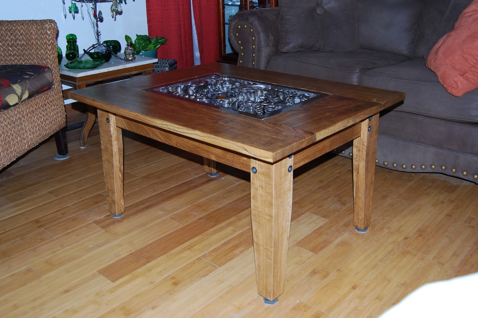 The Old Raven Workshop Welded Steel And Glass Orb Coffee Table - Welded coffee table