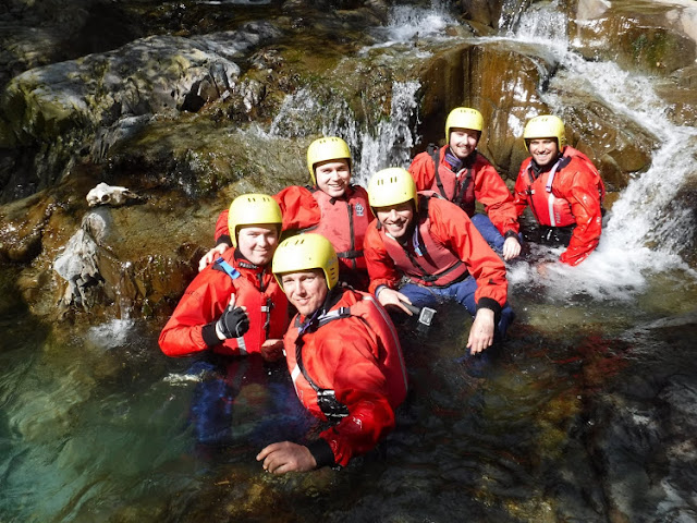 Canyoning in Coniston - Group shot in Church Beck