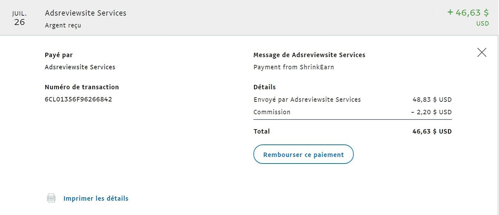 ShrinkEarn.com :Inscription,Preuve de paiement et Tarifs