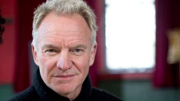 El músico británico Sting, durante la entrevista con motivo de la presentación del álbum '44876'